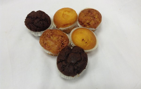 Mini muffins (naturel, chocola, kaneel)