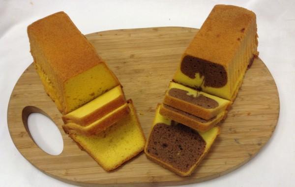 Plakjes roomboter cake (met/zonder marmer)