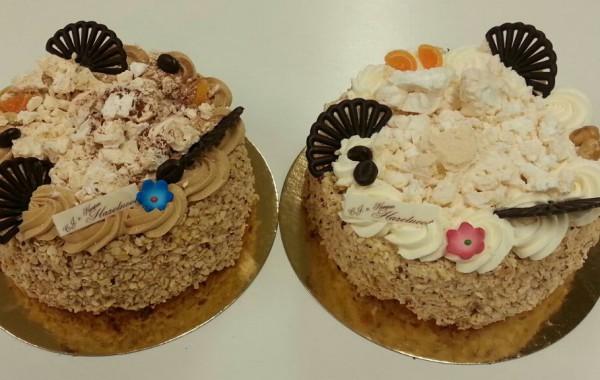 Hazelnoot/vanille/mocca taartjes